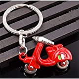 for R6 R3 Vespa Piaggio gts300 Scooter Kawasaki Z750 Z1000 Mercedes 3D Motorcycle Styling Car Key Ring : Red