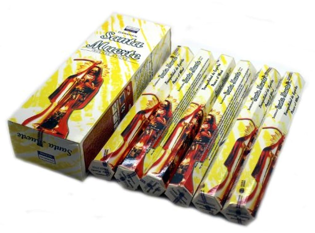 勤勉ライラックウェーハ1 x Santa Muerteホワイト – 120 Sticksボックス – Darshan Incense