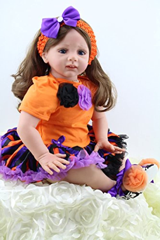 LifelikeシリコンRebornベビーCollectible幼児用Big Girl Dolls Look Real、24インチ