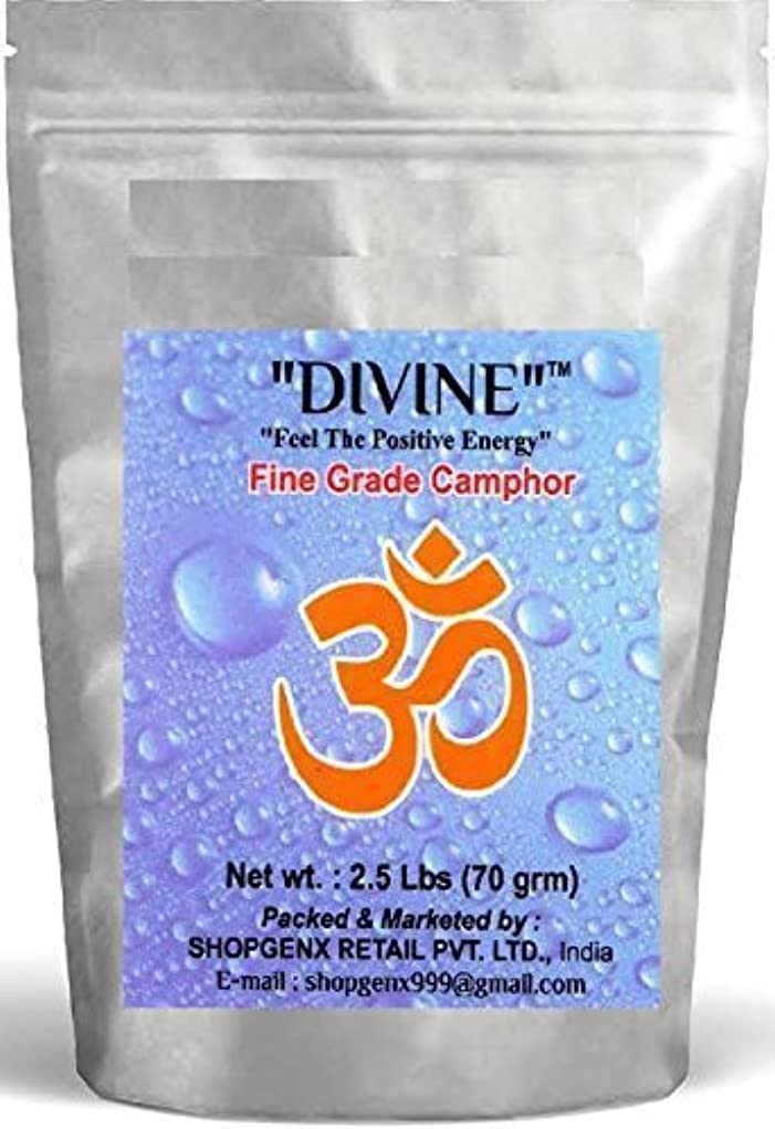 ワイヤー債務適用済みDivine供養Pure 70 g Refined Camphor Flakes for Holy Spiritual Hindu供養Ganpati & Diwali Rituals