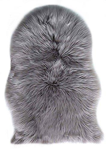 [해외]무통 장모 YummyBuy 러그 매트 빨 인공 모직 매트 양모 러그 길이 타입 부드러운 부드러운 침실 매트 미끄럼 방지 기능 아이보리 60 * 90cm/Mouton long hair YummyBuy rug mat washable artificial wool matte mouton rug long type fluffy soft be...