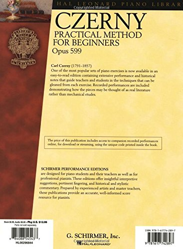 Czerny: Practical Method for Beginners, Opus 599: Schirmer Performance Editions (Hal Leonard Piano Library)