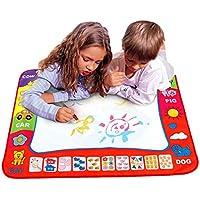 Sixpi アクア落書き子供のお絵かきマット マジックペン 知育玩具 1台+水描きペン2個