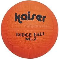 Kaiser(カイザー) ゴム ドッジ ボール KW-188 【色指定不可】 ボールネット付 小学生 レクリエーション用 レジャー ファミリースポーツ