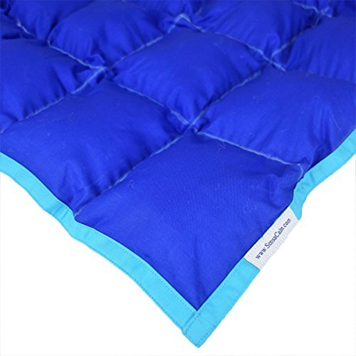 SensaCalm Therapeutic Adult-Length Weighted Blanket - Dazzling Blue with Scuba Blue-14 lb -for 110 lb User by SensaCalm [並行輸入品]