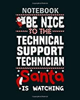 Notebook: technical support technician1 - 50 sheets, 100 pages - 8 x 10 inches