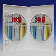 【Amazon.co.jp 限定】オーバルマルチメディア 業務用箱入り 15mm厚 標準サイズ 日本製 ポップマンボウ 2枚収納DVDトールケースホワイト50個