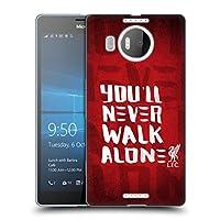 オフィシャル Liverpool Football Club レッド4 You'll Never Walk Alone Microsoft Lumia 950 XL 専用ソフトジェルケース