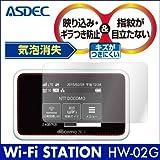 アスデック 【ノングレアフィルム3】 docomo Wi-Fi STATION HW-02G 専用 防指紋・気泡が消失するフィルム NGB-HW02G