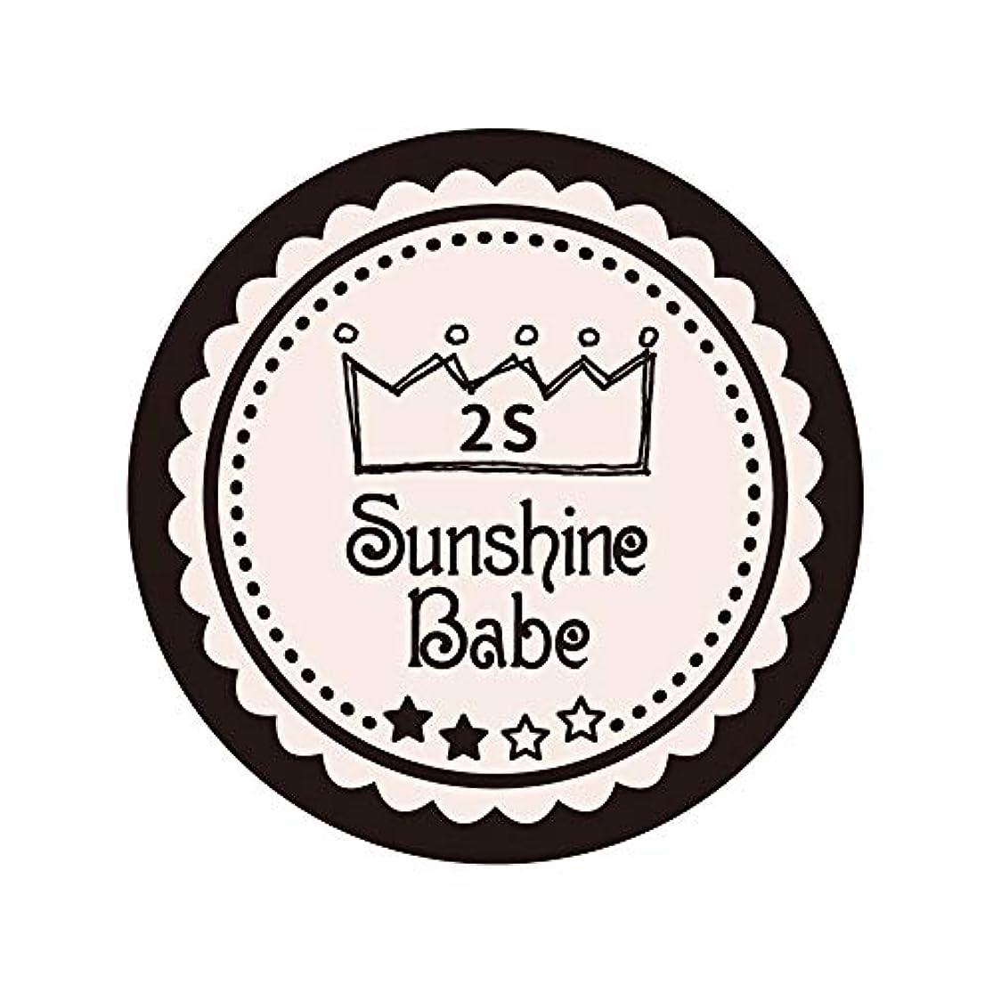 時バックアップ遺伝子Sunshine Babe カラージェル 2S オールモーストモーブ 2.7g UV/LED対応