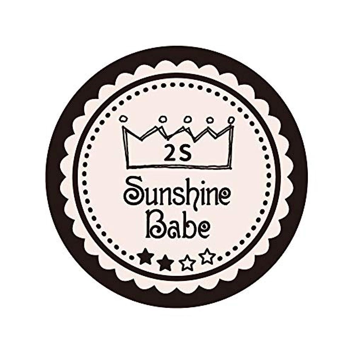 発生器デモンストレーションビジターSunshine Babe カラージェル 2S オールモーストモーブ 2.7g UV/LED対応