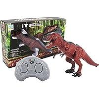 JQ trend 超デカイ恐竜 あちこち這う ドッキリ びっくり パティーグッツ リアル 電動おもちゃ 赤外線 リモコン付き (ブラウンA)
