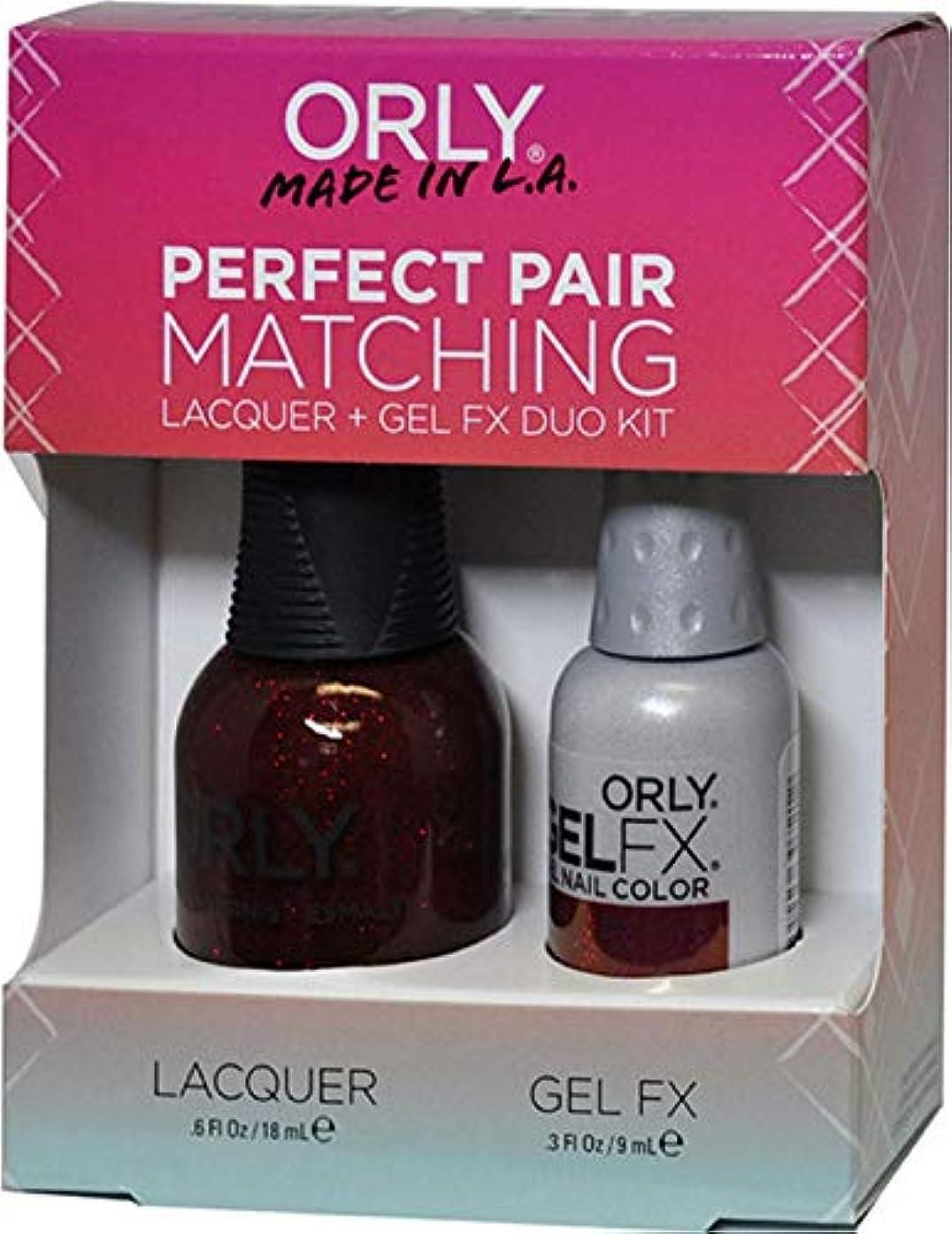 人工的な下線一貫性のないOrly Nail Lacquer + Gel FX - Perfect Pair Matching DUO - Star Spangled