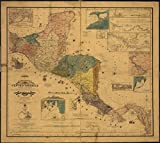 マップ: 1862Carta De Los Estados de centro-america|central america|manuscript