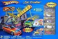 HOT WHEELS Playset CAR CRUSHER w Working CRANE & Bonus 5 VEHICLES Cars (2005)