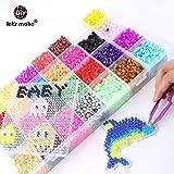 Perler Beads キッズ 最高品質 赤ちゃん用おもちゃ 5mm パーラービーズ 28色ボックスセット ヒューズ ハッピー DIY シャワーギフト - パーラービーズ おもちゃ ビーズおもちゃ 子供用ビーズ プラスチックビーズ 子供用