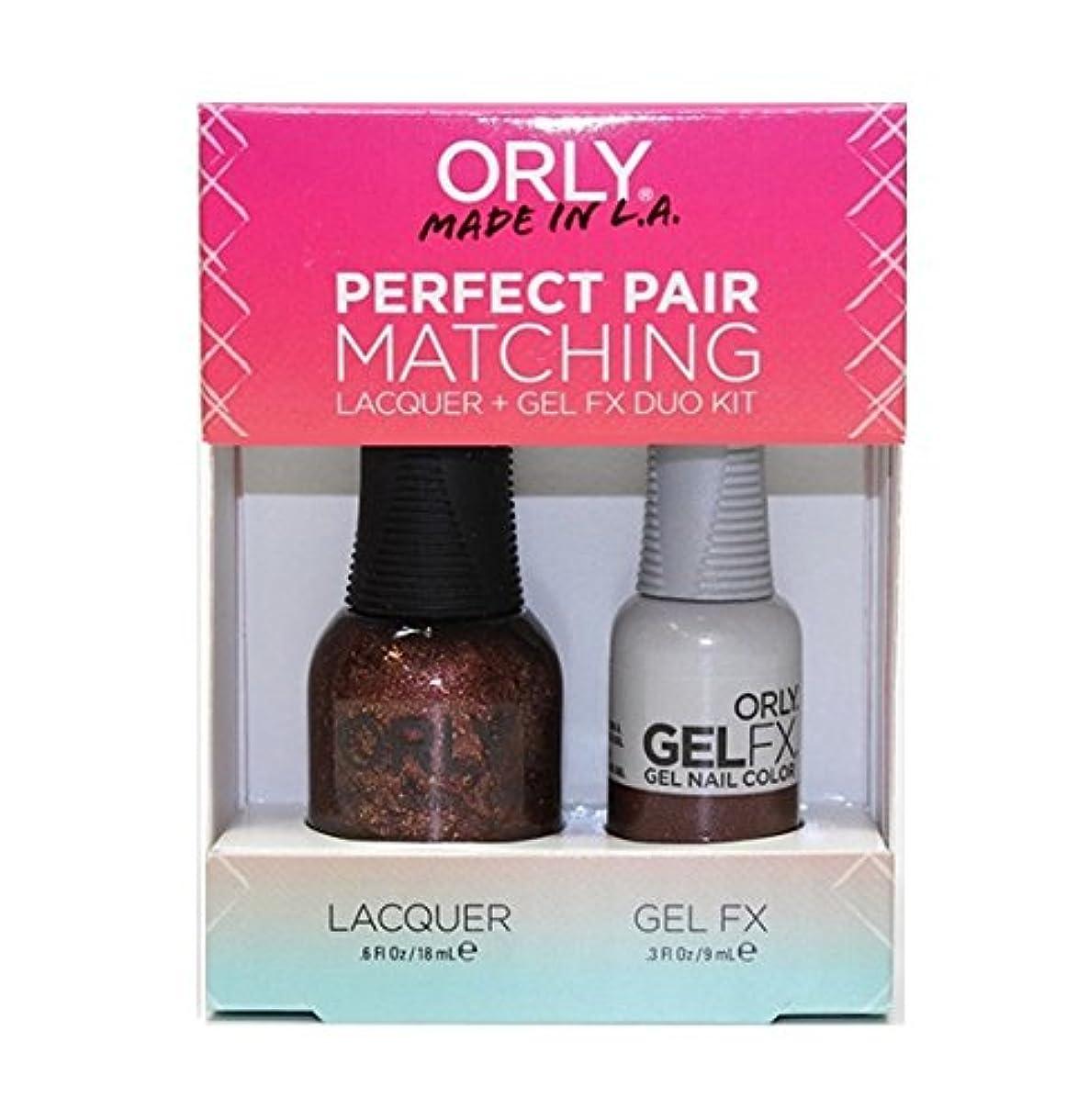 同級生リスクベンチOrly - Perfect Pair Matching Lacquer+Gel FX Kit - Meet Me At Mulholland - 0.6 oz / 0.3 oz