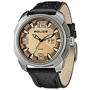 [ポリス]POLICE メンズ テキサス シャンパンゴールド文字盤 ブラック レザー PL13836JS-61 腕時計 [並行輸入品]