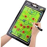 サッカーボード 作戦盤 コーチ マグネット 指導戦略ボード トレーニング援助 戦術ボード 専用ペン付き