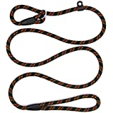 5 FT Durable Pet Dog Training Leash, Adjustable Nylon Lead Leash, Soft Slip Lead Traction Rope for Small and Medium Dogs (150 cm)