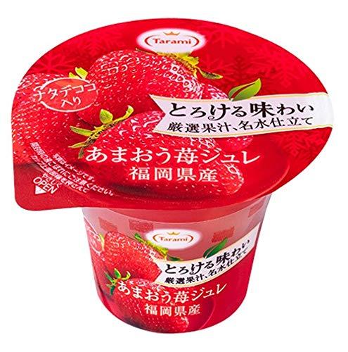 たらみ とろける味わい厳選果汁、名水仕立て あまおう苺ジュレ 210g ×6個