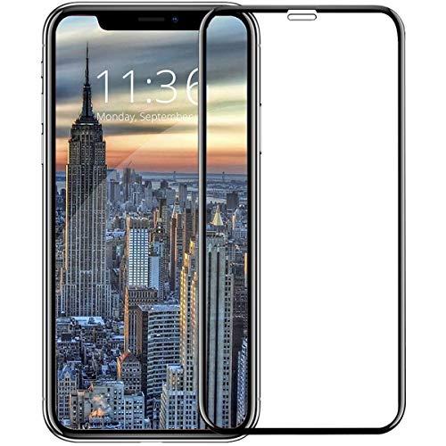 iPhone XS ガラスフィルム 【2018最新版専用設計 6D曲面全面保...