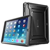 SUPCASE Beetle Defense iPad Air ケース Full-body Hybrid Protective Case PC × TPU 2層 ハードケース ブラック × ブラック for Apple iPad Air 2013 iPad 第5世代 全面保護 耐衝撃 衝撃吸収 防塵 モデル ハイブリッド ケース