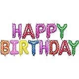 hapler 風船 誕生日 バルーンセット HAPPY BIRTHDAY お誕生日おめでとう バルーン 風船 パーティー 飾り付け セット 記念日 お祝い 飾りセット (C)