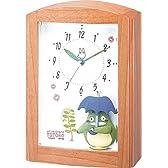 リズム時計 となりのトトロ 目覚まし キャラクター 時計 R752N オルゴール アラーム 木 茶 4RM752MN06