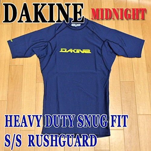 DAKINE/ダカインメンズ半袖ラッシュガード HEAVY DUTY SNUG FIT S/S RASHGUARD MIDNIGHT UPF50+ MENS 男性用水着 UVカット