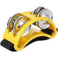 ammoon フット・タンバリン 7色選択可能 タンバリン パーカッション ベル 楽器 ABS/金属/ナイロン製