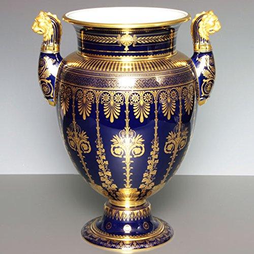 セーブル(Sevres) 希少 花瓶 ベース エトルリア セーブルブルー 金彩飾り 飾り壺 ハンドメイド 飾り物