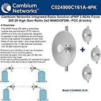 Cambium EPmP 2.4GHz Force 20025high Gain内蔵ラジオ2x 2mimo / ofdm- ( 4pack )