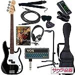 SELDER セルダー ベース プレシジョンベースタイプ PB-30/BK/W VOX amPlug2【アンプラグ2 AP-BS(BASS)】サクラ楽器オリジナルセット