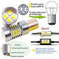 Wiseshine 8000k baz15d led 電球 DC9-30v 3年間の品質保証(2パック) baz15d 22smd 3030 クールホワイト