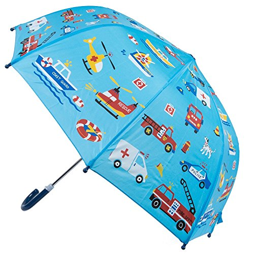 Kids Umbrella - Childrens 18 Inch Rainy Day Umbrella - Emergency Vehicles