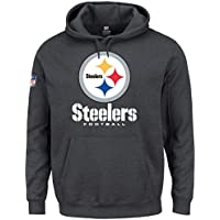 マジェスティック (Majestic) OUR チーム パーカー - ピッツバーグ?スティーラーズ (Pittsburgh Steelers) チャコール