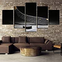 NATVVA リビングルーム用絵画 壁装飾 寝室用絵画 ウォールデコレーション スプリットペイント 60''Wx32''H