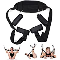happinesssale Comfortable B`D`S-M Boňdàgé Belt Combination System Yoga Harness Set Suit, for Wrist and Thigh, Strong and Durable for Women Position Support Sling Play