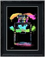 アートショップ フォームス ブランドオマージュアート/クレイグ・ガルシア「シャネル/No5/香水2b」A4ポスター (ブラック)