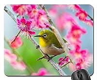 美しいかっこいい鳥のマウスパッド、春の鳥のマウスパッド、マウスパッド