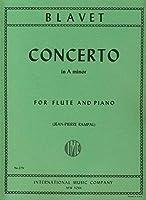 Partitions classique IMC BLAVET M. - CONCERTO LA MINEUR - FLUTE & PIANO Flûte traversière