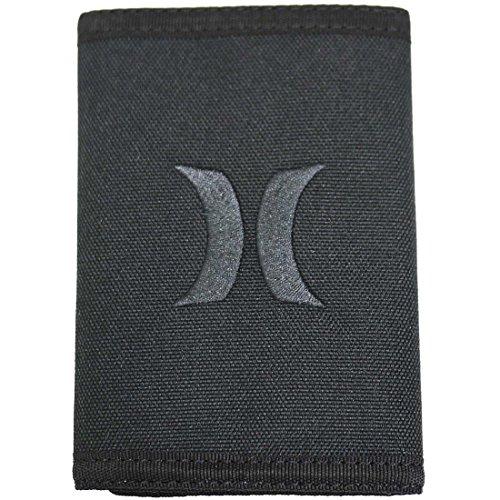 Hurleyハーレー ハーレー 財布 三つ折り ウォレット コンパクト ブラック ロゴ Hurley 9037