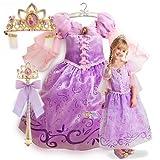 新作 ディズニープリンセス Disney Princess Tangled Rapunzel Costume Tiara Light-Up Wand 2013 子供 キッズ 衣装 コスチューム ティアラ & ライトアップステッキ 3点セット ラプンツェル 120 130 Mサイズ 6-8歳