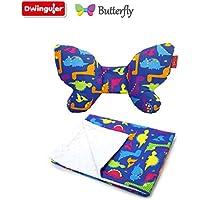 Dwinguler Butterfly Set - Head Support & Blanket (Dino) by Dwinguler