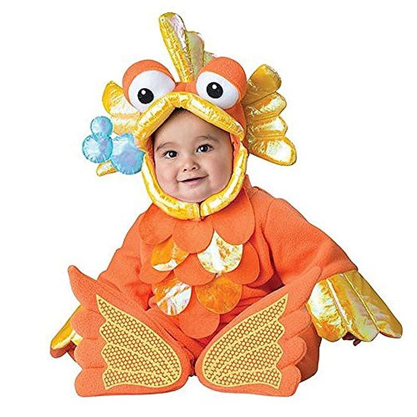 それからバック寝室を掃除する幼児赤ちゃん幼児水生金魚ハロウィンドレスアップ衣装 (90cm)