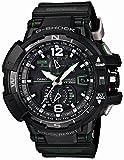 [カシオ]CASIO 腕時計 G-SHOCK SKY COCPIT スカイコックピット GW-A1100-1A3 電波ソーラー 方位計測 ブラック×グリーン メンズ [並行輸入品]