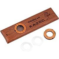 高品質 純木製 Kazoo 鼻歌 笛 楽器 バンド・パーティー伴奏 子供 おもちゃ サンダルウッド製 膜・カバー・収納ケース付き セット