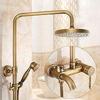シャワー銅ステンレス鋼レトロシャワー配管シャワー蛇口浴室スイートヨーロッパ、ブロンズ