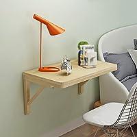 LXF 折りたたみテーブル ソリッドウッドの壁のテーブルの折りたたみテーブルのダイニングテーブルの壁コンピュータの机の学習テーブルの本松の折り畳み式 (サイズ さいず : 75*50cm)